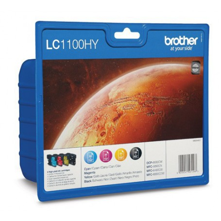 INK-JET BROTHER LC1100HYVALBP MULTIPACK ALTA CAP.