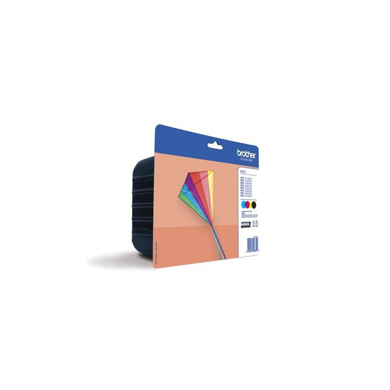 INK-JET BROTHER LC223 PACK NEGRO/TRICOLOR (550P.)