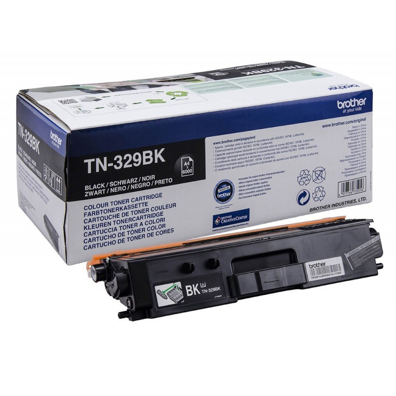 TONER LASER BROTHER TN329BK (6000P.) NEGRO