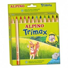 LAPICES DE COLORES ALPINO TRIMAX (12U.) ESTUCHE CARTON