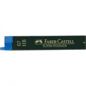 MINAS FABER CASTELL 0.7MM. HB (12U.)