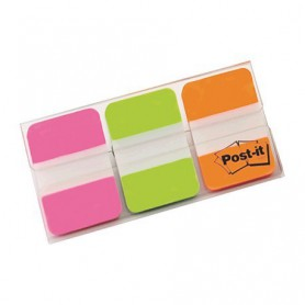 POST-IT INDEX RIGIDO 25x38 ROSA-VERDE-NARANJA