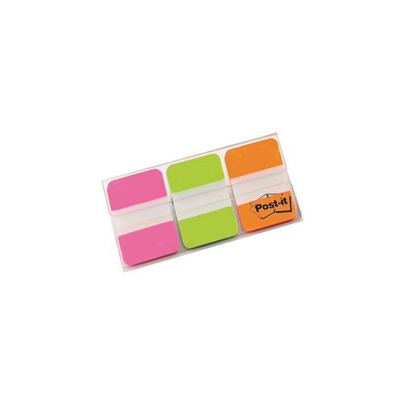 POST-IT INDEX RIGIDO 2ROSA-VERDE-NARANJA