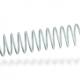 ESPIRAL METALICO 20 MM. (100U.) BLANCO