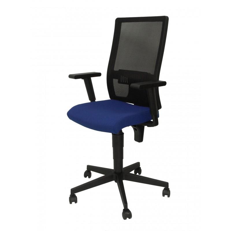 Silla oficina pyc povedilla ergonomica sincro malla negro bali azul