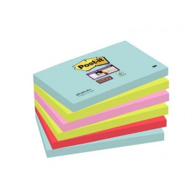 BLOC POST-IT  76x127 SUPER STICKY (6U.) MIAMI