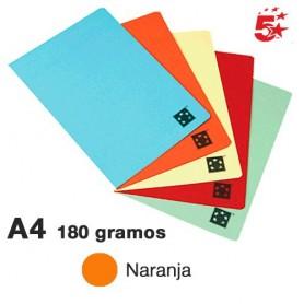 SUBCARPETA CARTULINA A4 180GR. (100U.) 5* NARANJA