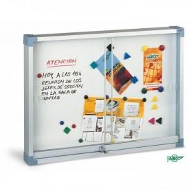 VITRINA ANUNCIOS BLANCA 900x1200 MM. MAGNETICA