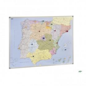 MAPA MAGNETICO ESPAÑA Y PORTUGAL 1010x1370 MM.