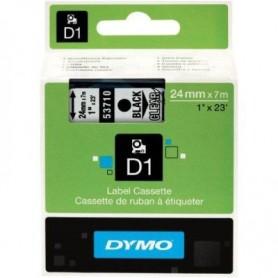 CINTA DYMO D1 24MM. 53710 NEGRO/TRANSPARENTE