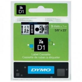 CINTA DYMO D1  9MM. 40910 NEGRO/TRANSPARENTE