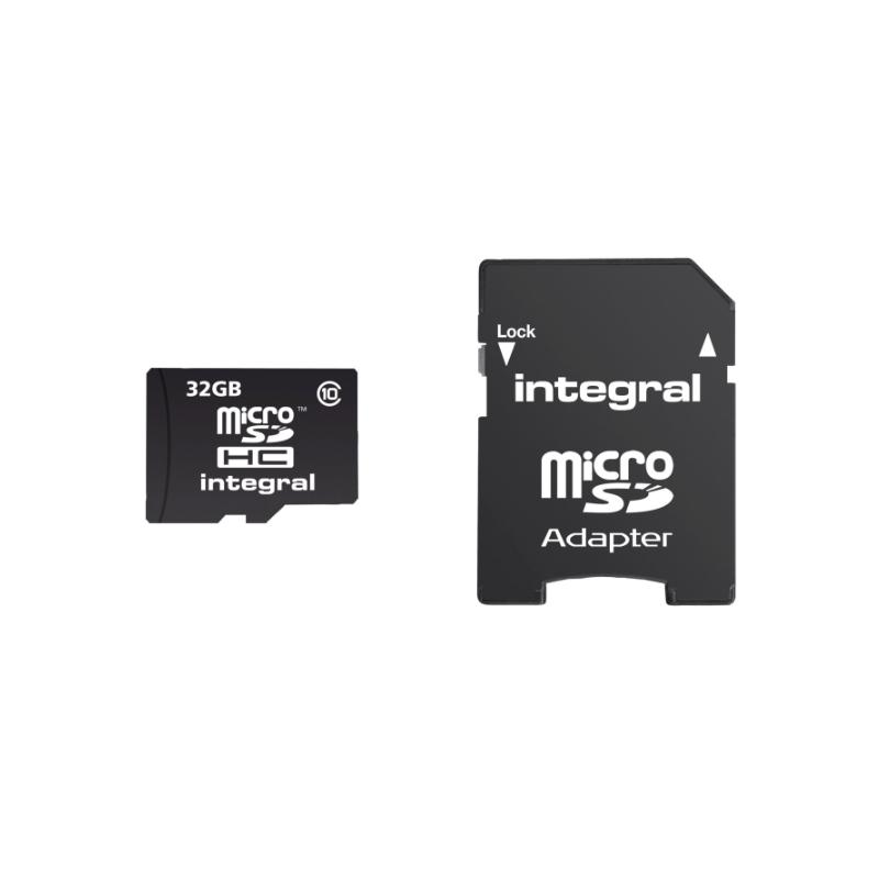 MEMORIA MICRO SDHC 32 GB. INTEGRAL CLASE 10