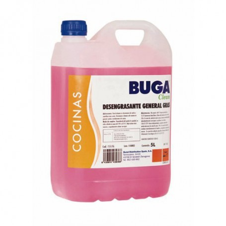 DESENGRASANTE GENERAL BUGA CLEAN 5L.