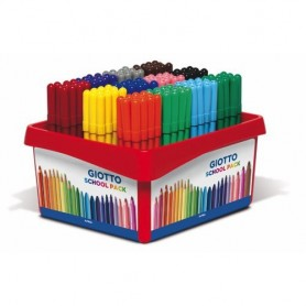 ROTULADORES COLORES GIOTTO TURBO COLOR (12x12U.) SCHOOL PACK