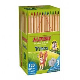 LAPICES DE COLORES ALPINO TRIMAX (12x10U.) CLASSBOX