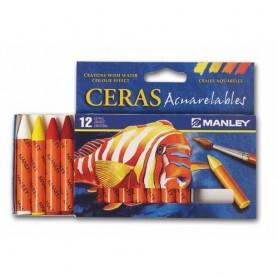 CERAS ACUARELABLES MANLEY 12 COLORES