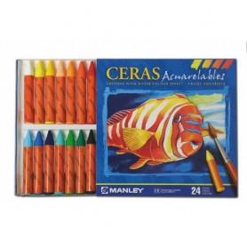 CERAS ACUARELABLES MANLEY 24 COLORES