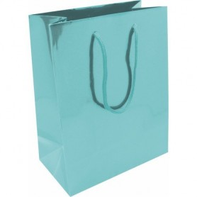 BOLSA PAPEL LAMINADA C BRILLO 6 COLORES PNA. 22x18,5x7,5