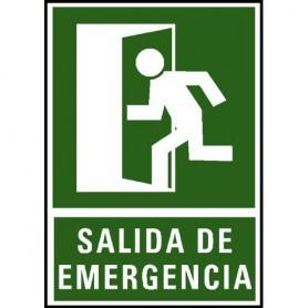 PLACA SEÑAL NORMALIZADA -SALIDA DE EMERGENCIA-