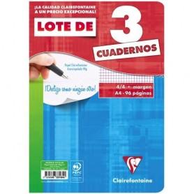 LIBRETAS GRAPADA FOLIO 48H. 90GR. 4x4 C/M (PACK 3U.)