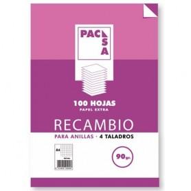 RECAMBIO A-4 100H 4T PAUTA 2,5MM 90 GRS