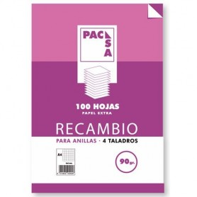 RECAMBIO A-4 100H 4T LISO  90 GRS
