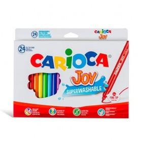 ROTULADORES COLORES CARIOCA JOY (24U.) ESTUCHE CARTON
