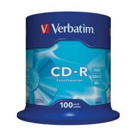 CD-R 700 MB. VERBATIM 52x (BOBINA 100U.)