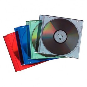 CAJA ESTUCHE CD SLIM (25U.) COLOR
