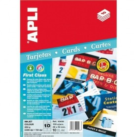 TARJETAS DE VISITA 89x54 DOBLE CARA FOTO+MATE 250GR. A4 (100U.) APLI