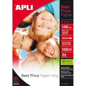 PAPEL FOTOGRAFICO APLI BEST PRICE A4 140GR. (100H.