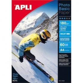 PAPEL FOTOGRAFICO GLOSSY APLI 60H. A4 180G. 4135