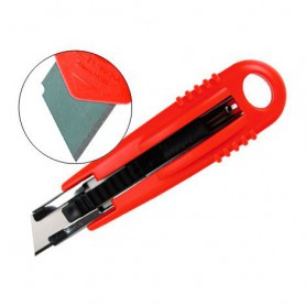 CUTTER SEGURIDAD 18MM. AUTO RETRACTIL