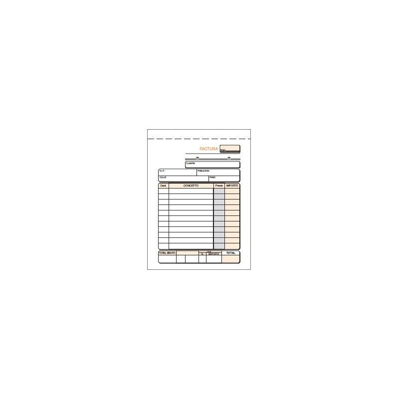 TALONARIO FACTURA 8º NATURAL (2x50H.) DUPLICADO