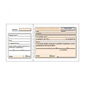 TALONARIO RECIBO 210x105 MM. COMUNIDAD PR. (100H.)
