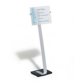 ATRIL INFORMATIVO A3 CRYSTAL SIGN STAND