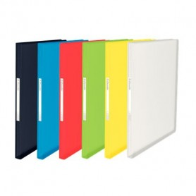 CARPETA  60 FUNDAS A4 PP. FLEXIBLE TRANSLUCIDO COLOR SURTIDO
