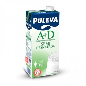 LECHE SEMIDESNATADA PULEVA BRIK DE 1 LITRO