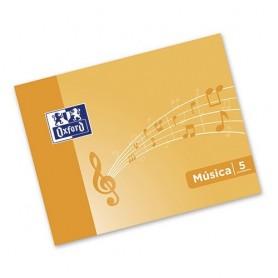 LIBRETA MUSICA OXFORD A5 APAISADO 10H 5 PENTAGRAMA