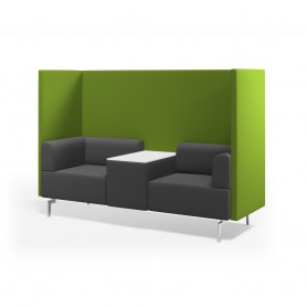 BE SOFT BOOTH INDIVIDUAL + MESA 125x68x137 CMS. GRIS