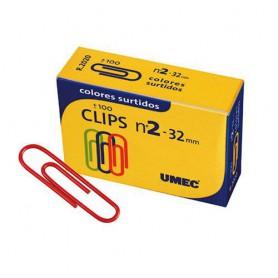 CLIPS COLORES Nº 1,5 LABIADOS UMEC (100U.)