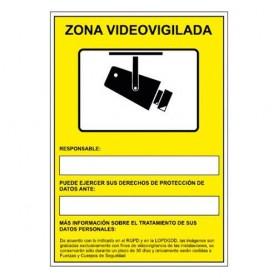 PLACA SEÑAL NORMALIZADA -CAMARAS DE VIGILANCIA EN GRABACION 24 HORAS-