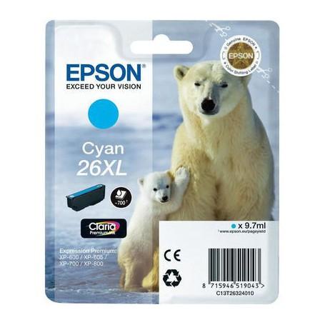 INK-JET EPSON 26XL (700P.) CIAN C13T26324020
