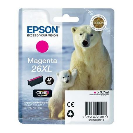 INK-JET EPSON 26XL (700P.) MAGENTA C13T26334020