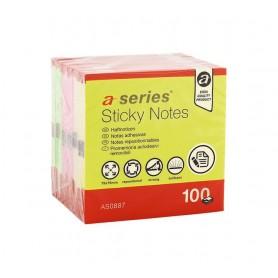 BLOC NOTAS REPOSICIONABLES 75X75 NEON A-SERIES