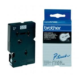 CINTA ROTULADORA BROTHER  9MM. LAM 7.7M NG/BL TC-291