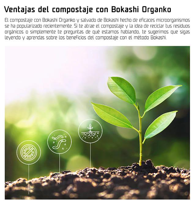 Ventajas del compostaje con Bokashi Organko